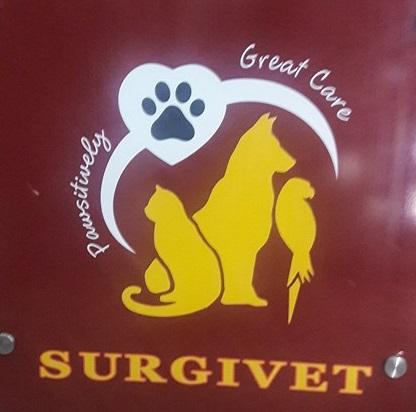 Surgivet pets clinic logo