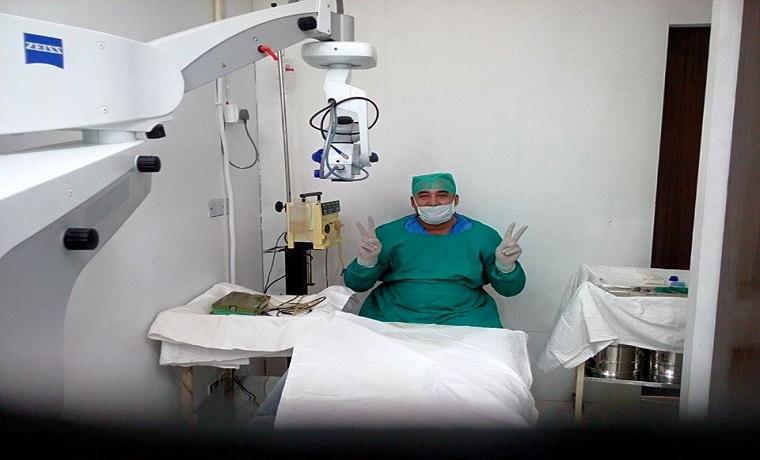 Ali retina eye clinic room