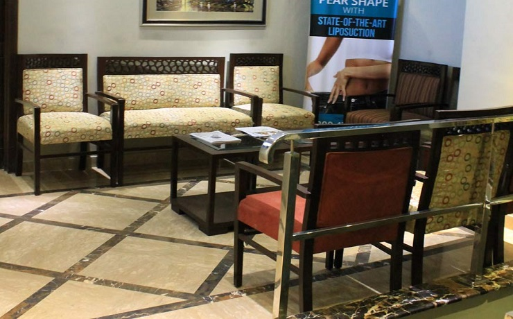 Cosmetique dha lahore waiting area