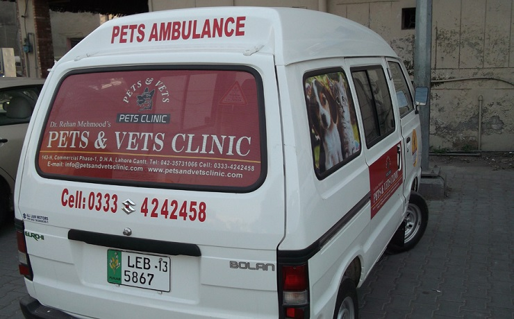 Pets and vets ambulance