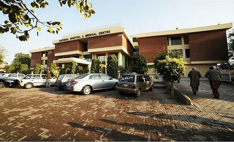 National hospital parking