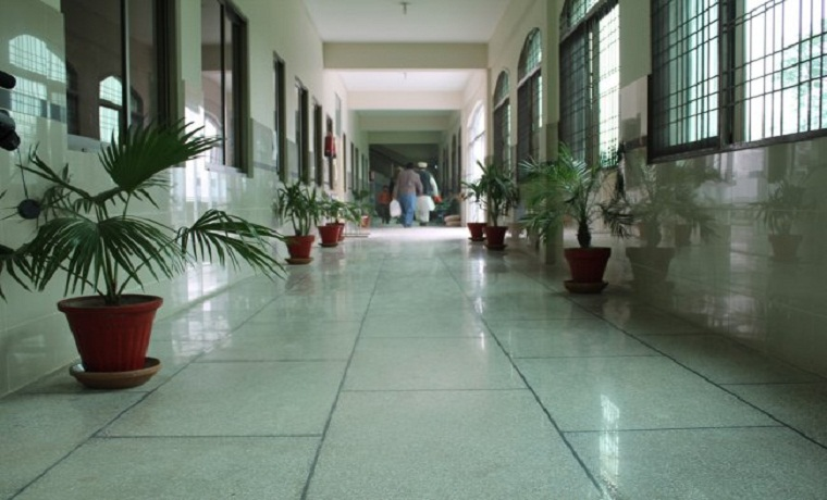 Ghurki trust teaching hospital corridor