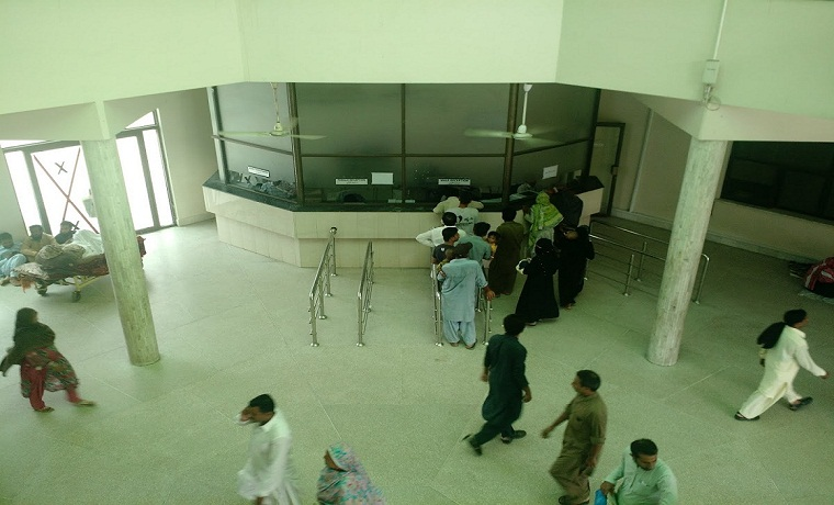 Ghurki trust teaching hospital lobby